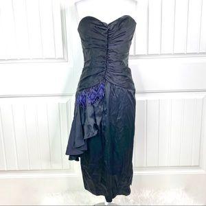 TD4 Electra Vintage 80s Strapless Bead Dress 9/10